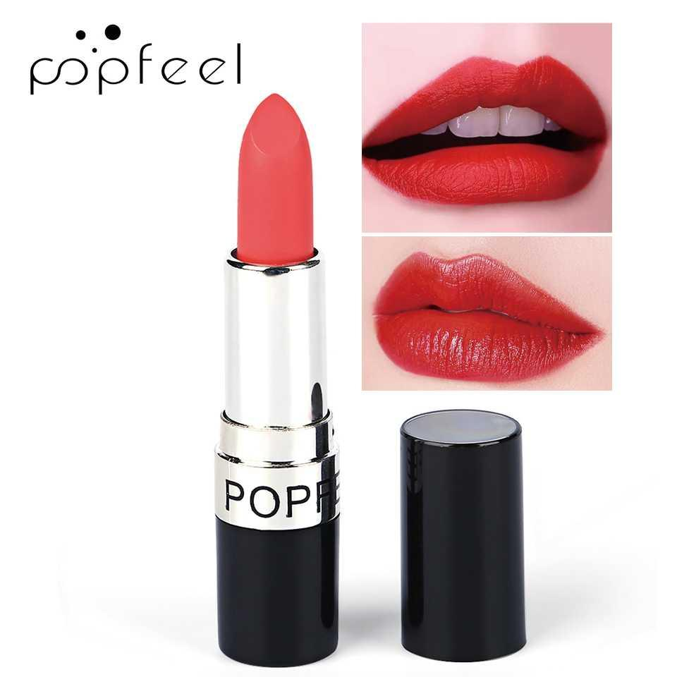 POPFEEL 20 Color Nude Matte Lipstick Non-Stick Cup Long-lasting Lip Stick Waterproof/Water-Resistant Easy to Wear Lip Makeup 19g