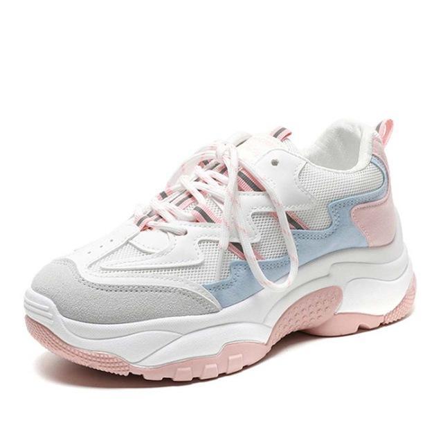 2019 primavera otoño moda señoras zapatos casuales para mujer zapatos vulcanizados transpirable salvaje plataforma mujeres zapatos zapatillas de deporte