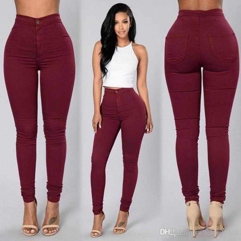 Compre 2018 Solid Wash Skinny Jeans Mujer Cintura Alta Nuevos Pantalones De Mezclilla Tallas Grandes Pantalones Push Up 2018 Lapiz Calido Pantalones Mujer A 23 09 Del Wholesale520 Dhgate Com