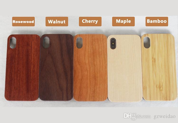 الحالات خشبية اليدوية لفون X XS ماكس Xr 7 8 زائد الخيزران غطاء الهاتف القضية لسامسونج S9 S10 زائد Note9