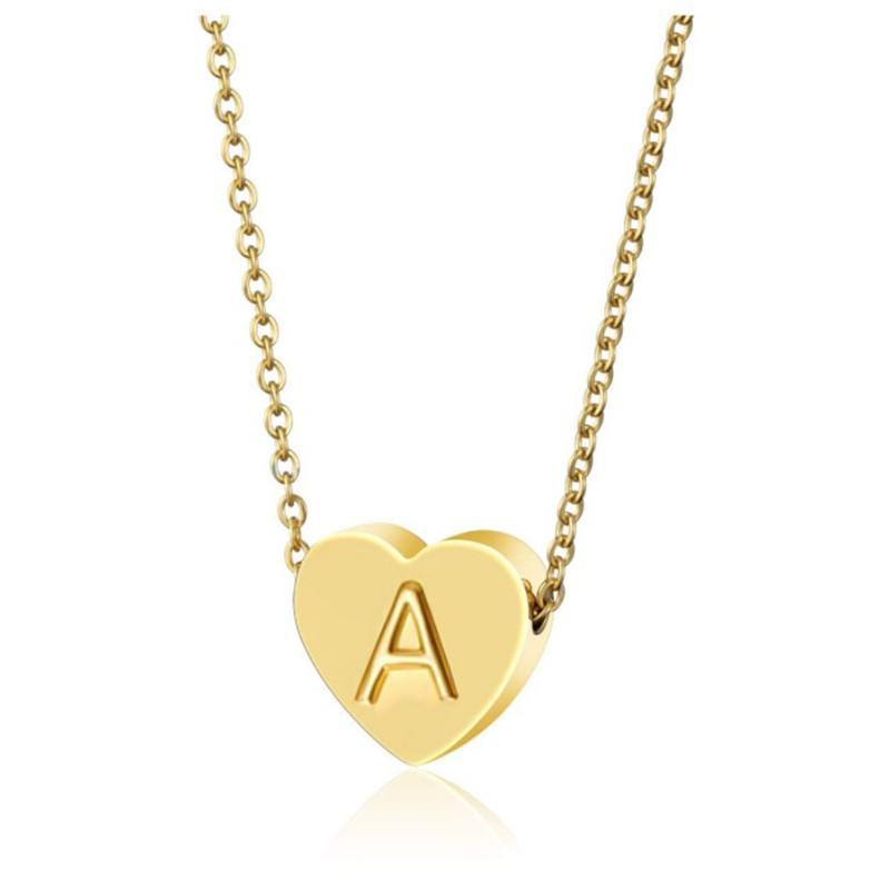 26 Buchstaben Initial Halskette Silber-Goldfarben-Disc Halskette Alphabet Frauen Kolye Collier Freunde Familie Brief Halskette Schmuck Großhandel