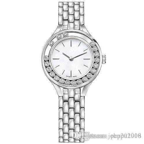 2019 PCS / lote Moda mulheres Swan relógios de luxo senhora relógio de aço inoxidável Rose ouro / prata Pulseira Relógio de pulso Marca feminina relógio Popular