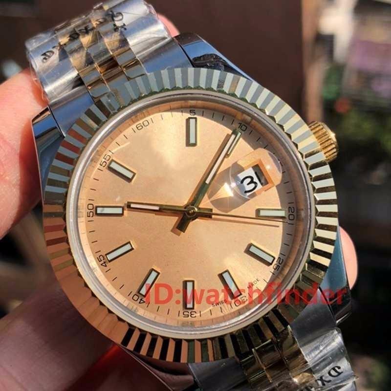 Hot Sales18K Gold-LuxuxMens Frau Automatische Präsident Bewegung Uhr Faltschliesse Designer Uhren Diamant Iced Out Armbanduhr