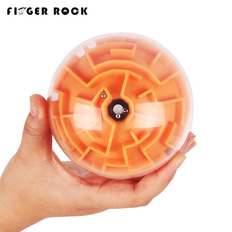Finger Rock 3D Spherical Magic Maze Ball 3 levels Intellect Rolling Ball Track Puzzle Game Children IQ Balance Training Toys Y200413
