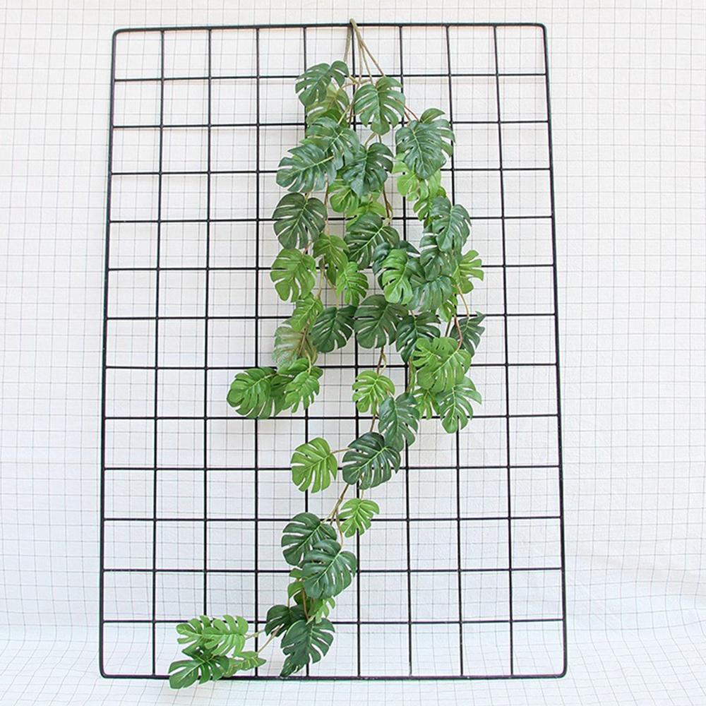 55 feuilles artificielles vert rotin tortue feuilles Faux plantes Salon Chambre Ornement Simulation Party Usine Désherbage Décoration