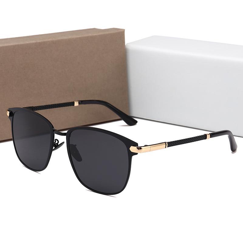 soleil femmes lunettes de soleil de luxe hommes design de luxe lunettes lunettes de mode lunettes de soleil polarisées pilote UV400 0818 Avec boite d'origine