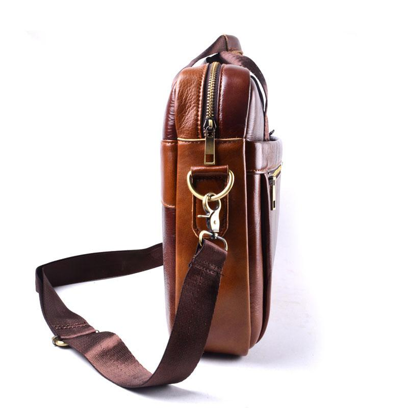 Bolsas de hombro del recorrido diseñador-AETOO bolso de cuero genuino de los hombres bolsa de cuero de vaca hombres Crossbody bolsos de los hombres de mano portátil carteras bolsos marrones