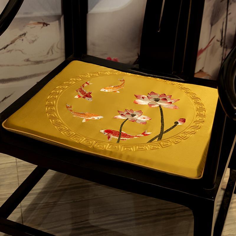 Счастливая вышивка кои рыбные подушки подушки для рыбных сидений диван стул нескользящей прокладкой