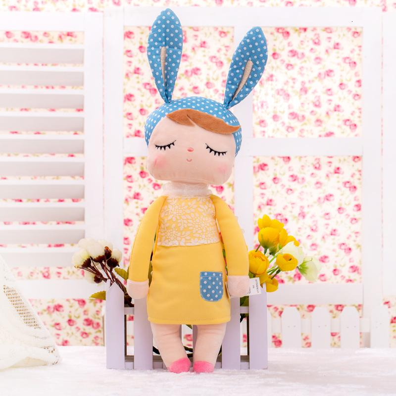 13 Inch Plush Sweet Cute Lovely Stuffed Bonecas Baby Kids Toys for Girls Birthday Christmas Gift Angela Rabbit Girl Metoo Doll T191019