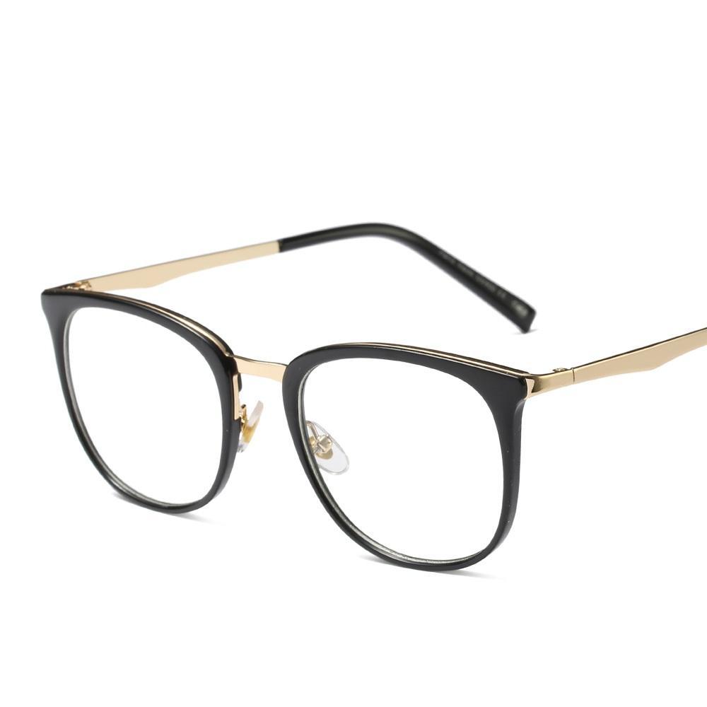 Оптово-Transparent Cat Eye Солнцезащитные очки Рамки Оптопорт Женщины Плоский близорукости стекла зрелищ очки