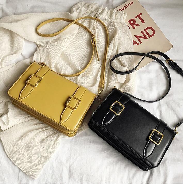 Factory wholesale women handbag new belt decoration women Messenger bag street fashion shoulder bag retro leather women bag
