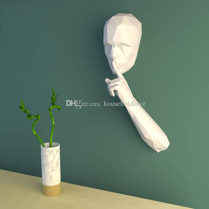 Forbidden Speaker Restaurant Library Office Quiet Tips Wall Decorations Handmade Paper Crafts Puzzle DIY stickers Need to Cut