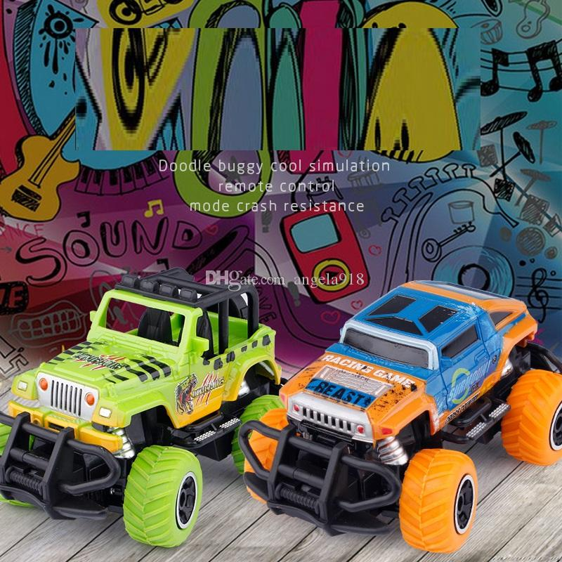 8 Styles Remote Control Off-road Vehicle Model Toys 14cm Four-Channels RC Children's Doodling Toy Car Kids Gift L506