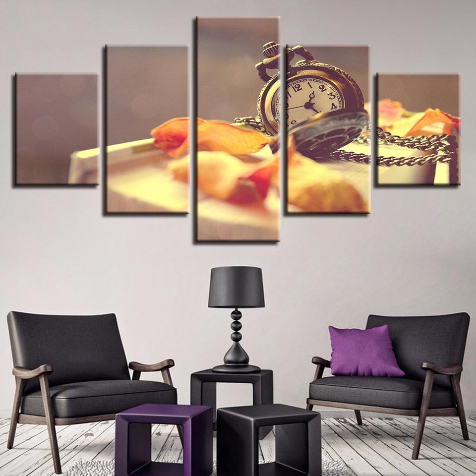 2020 Canvas Wall Art Simple Pocket Watch Leaf Decoration Painting Spray Painting Home Dining Room Kitchen Decor Unframed From Meiledipainting 20 64 Dhgate Com
