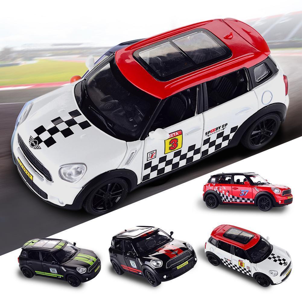 1:32 Diecast Metal Alloy Para MINI Coopers Countryman puxar para trás Veículos de brinquedo em miniatura Scale Model Car Y200317