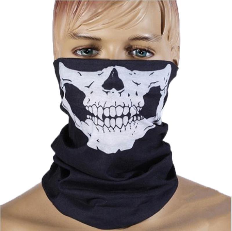해골 보호 먼지 얼굴 마스크 두건 원활한 매직 넥 게이터 얼굴 커버 쉴드 오토바이를 타고 스카프 자전거 하이킹 마스크