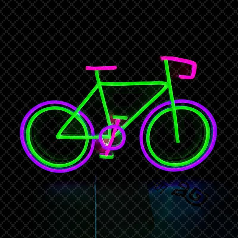 Розовый зеленый фиолетовый велосипед знак велосипед знак спортивный магазин бар клуб Главная украшения стены ручной работы неоновый свет знак 12 в Супер яркий