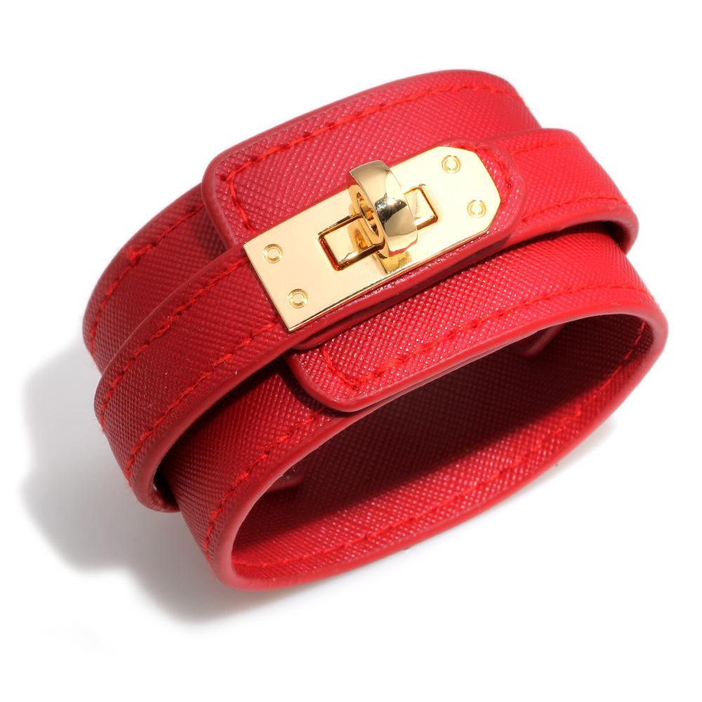 مصمم أزياء جلدية واسعة أساور الكفات للمرأة مشبك معدني كبير التفاف سحر سوار ليوبارد بنات أساور مجوهرات هدايا