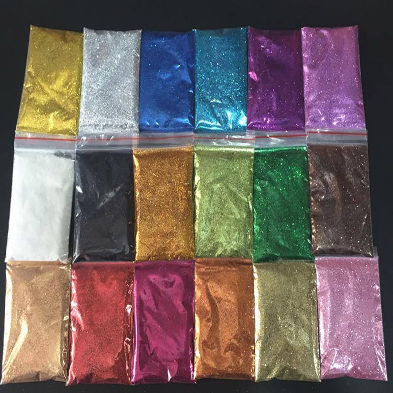 26 colori olografico Polvere di scintillio brillante Zucchero Nail scintillio caldo di vendita della polvere Chrome Polvere per il chiodo di arte della decorazione 10g / pack