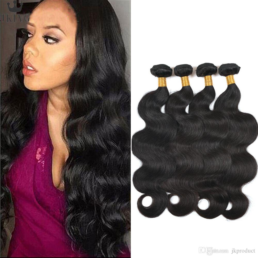Brazilian Peruvian Indian Malaysian Virgin Hair 4 Bundles Body Wave Hair Weave 8-30 inch Human Hair Bundles 400g per lot Weaves Extensions