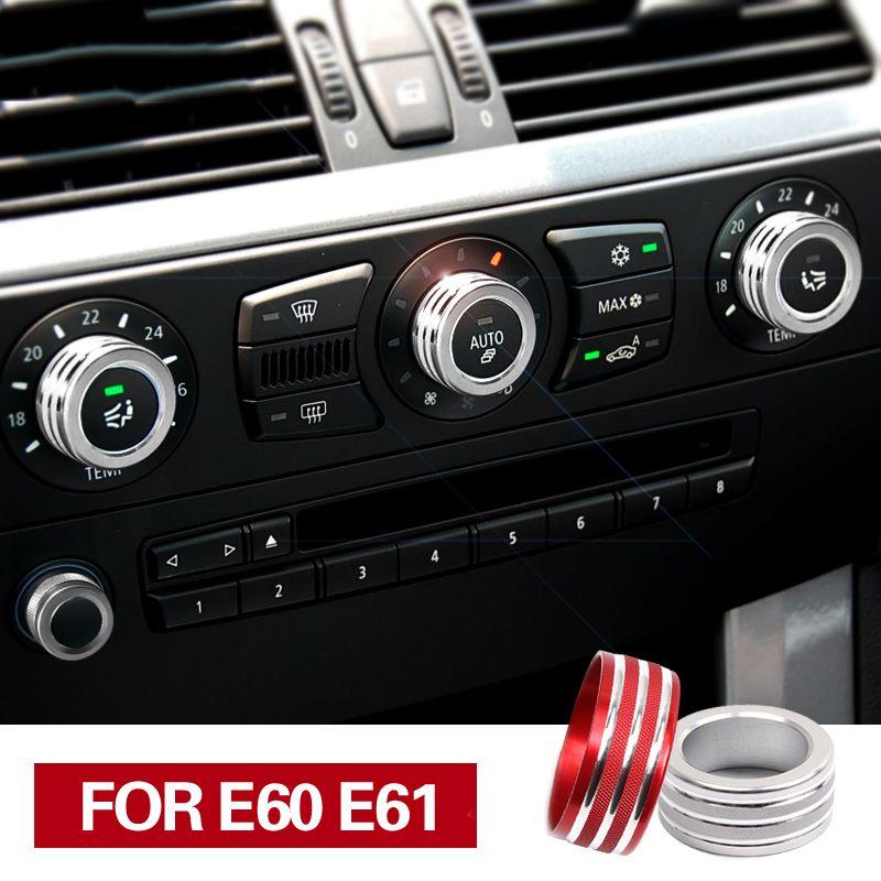 بي ام دبليو اكسسوارات السيارات الداخلية لسيارات بي ام دبليو E61 E60 تكييف الهواء الصوت المقبض يغطي ديكور الداخلية تريم 5 سلسلة