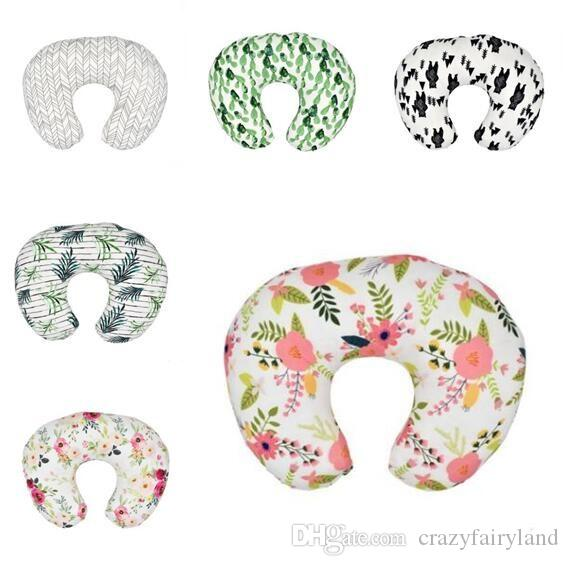 Baby Pillowcase Breastfeeding Pillow Nursing Pillow Case Infant Cuddle U-Shaped Pillowcase Kids Feeding Waist Cushion Cover 8 Colors Gifts
