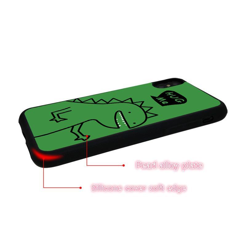 بيع الساخنة فون 11 / 11Pro / 11promax / X / XS / XR / 6/7/8 لينة حافة الهاتف القضية الأخضر الكرتون الديناصورات نمط الغلاف الخلفي اللون خيارات متعددة