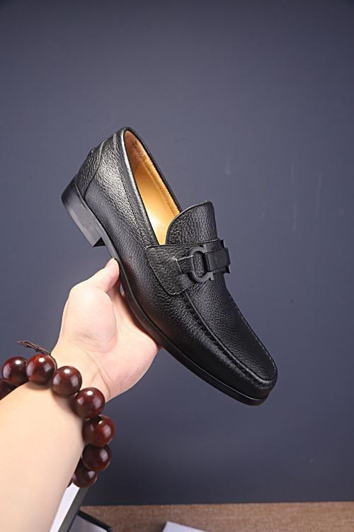 2019 Respirant cuir véritable mocassins simple d'homme chaussures habillées de fête officielle Marque flats Designer chaussures taille Homme Chaussure 38-44