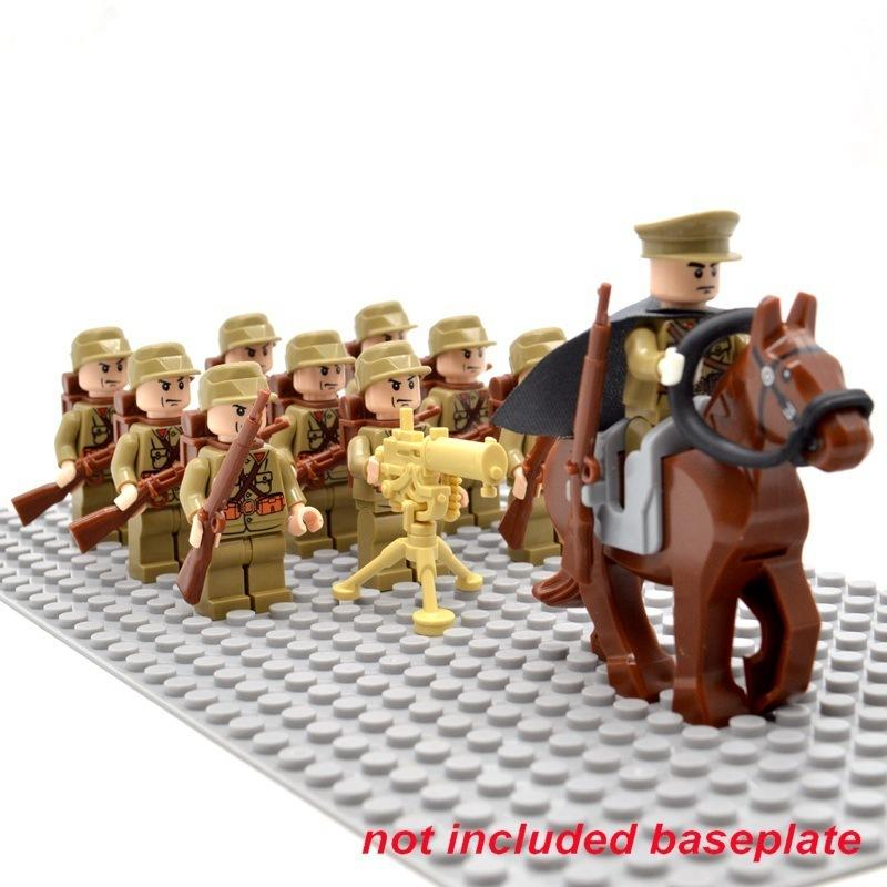 Lego Da Segunda Guerra Mundial Capacete Medic Stahlhelm M35 Impresso Pacote Com 4 Exército Soldado Militar Lote