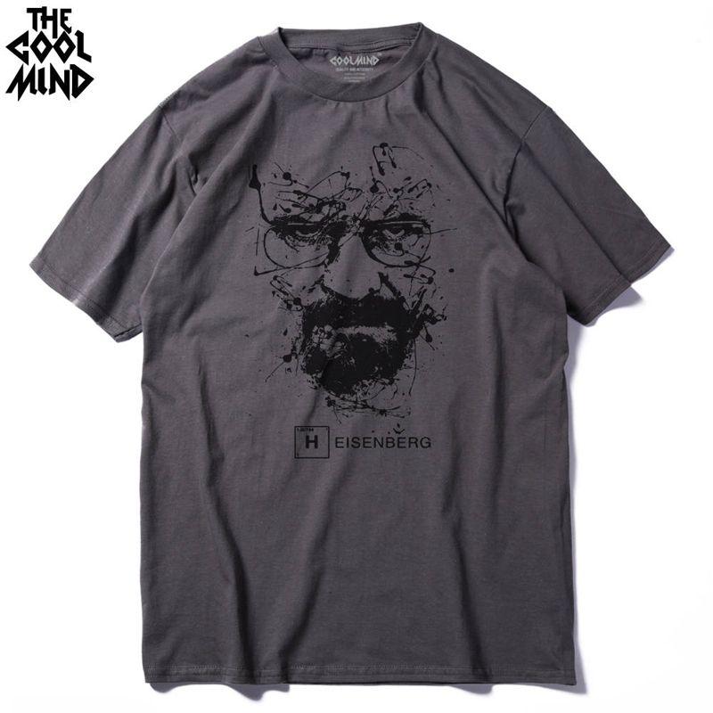 100% cotton men breaking bad tshirt male summer loose funny t-shirt tee shirt men you print heisenberg t shirt d88888