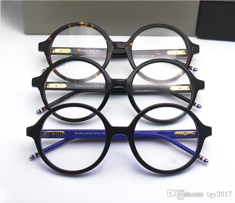 High-qualityTB500 Vintage больших круглая рамка рецепт glasses53-21-145 чисто дощечка рам Fullset случай OEM выход фабрика