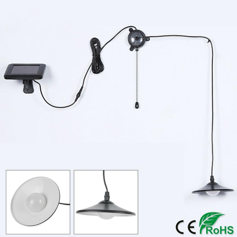 Garden Solar Lamp Retro Pull Rope Switch Indoor Kitchen Pendant Light Remote Control Hanging Solar Lamp Energy Saving for Indoor Outdoor Use