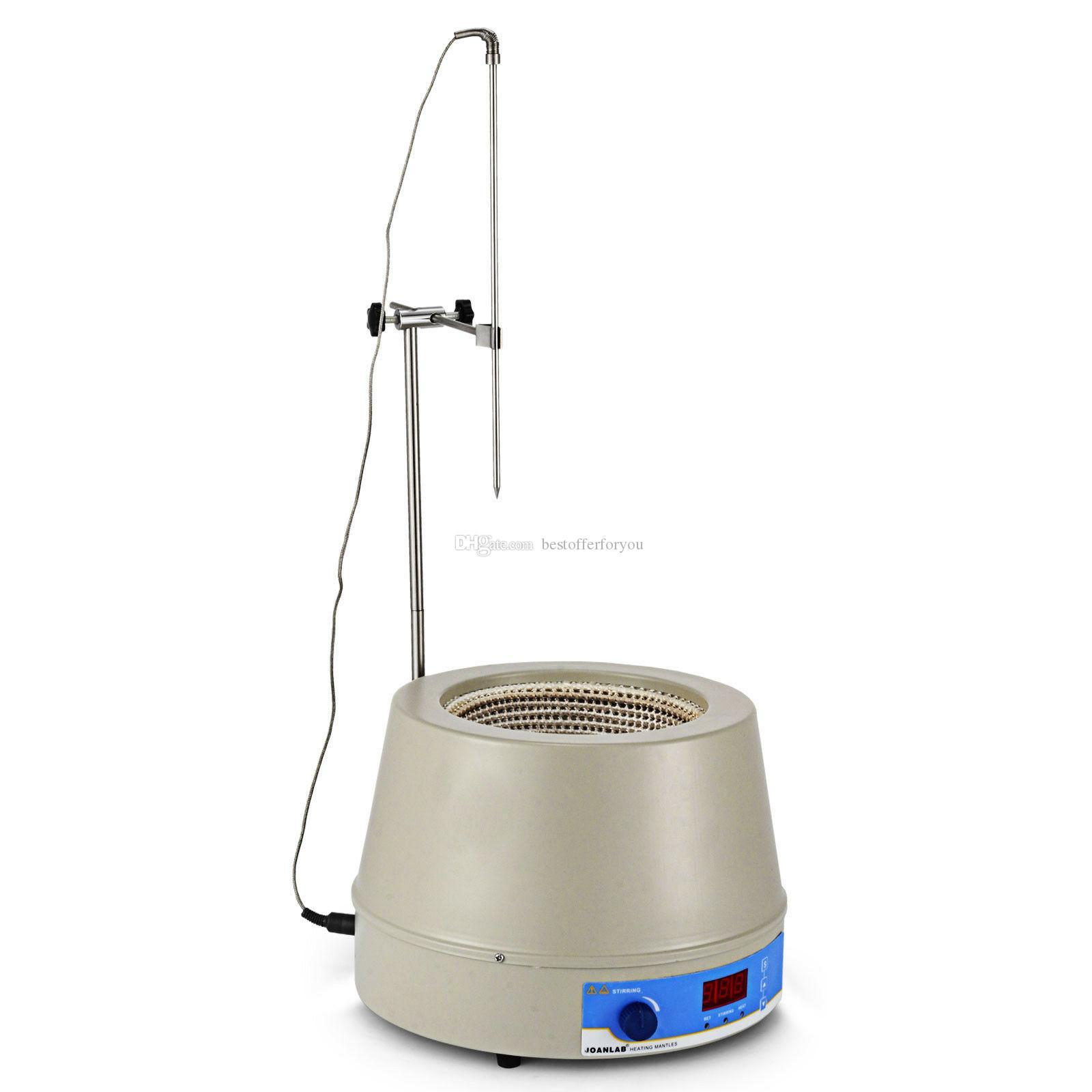 1400rpm 250W PT100 For Medicine Lab Liquid Heating 500ml Electric LCD Digital Display Magnetic Stirring Heating Mantle