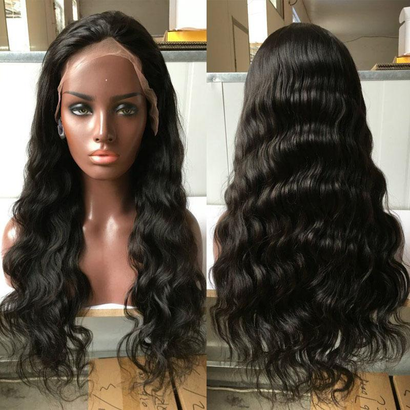 Sale Price Glueless full lace human hair wigs body wave lace front wigs for black women virgin human hair wavy full lace wigs