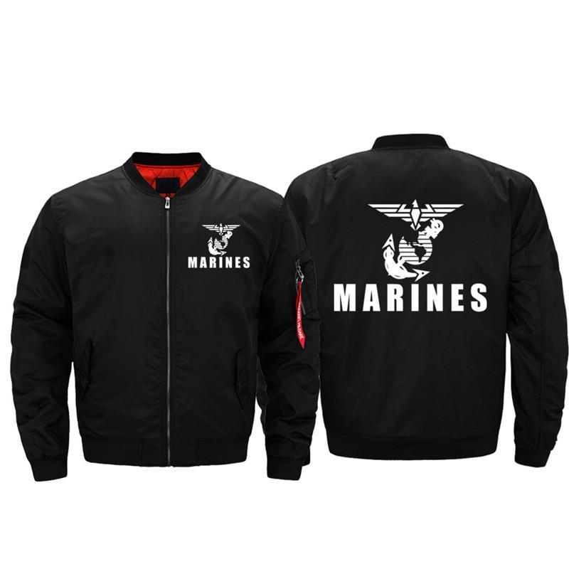 Marines américains Conception Marine Corps vêtements Marines Veste Bomber Vestes épais vestes coupe-vent Air Pilot