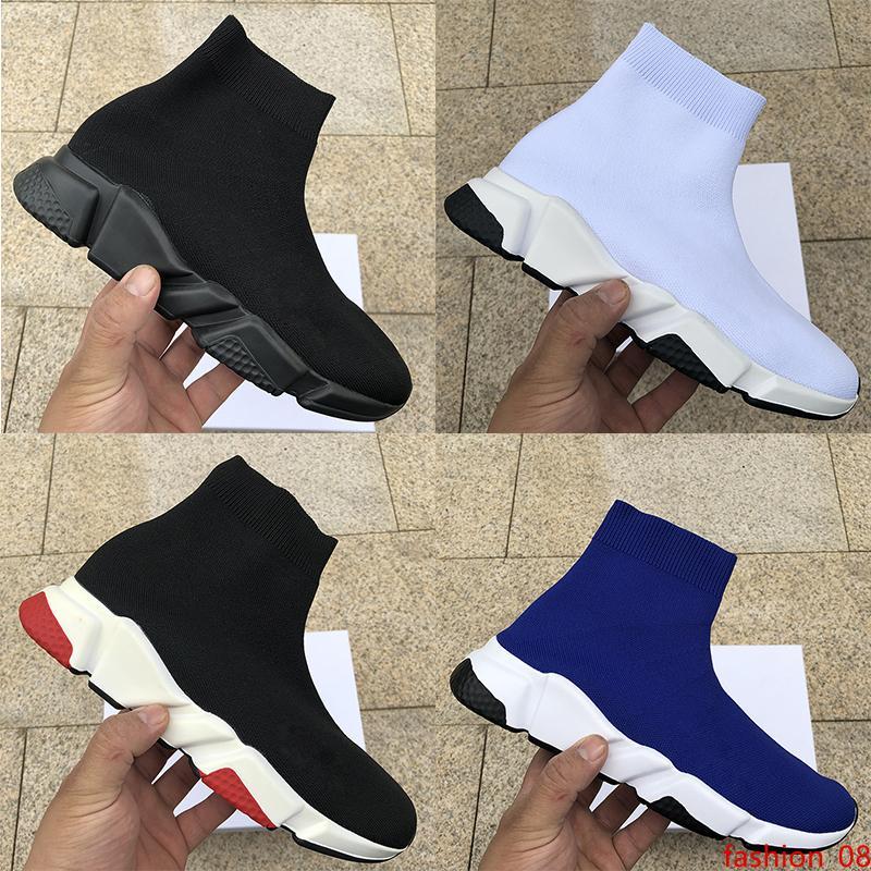 mens luxo designer mulheres calçados casuais Sock Speed Trainer Preto Vermelho triplo do preto da forma Meias Botas de malha stretch sapatilha Runner Trainers
