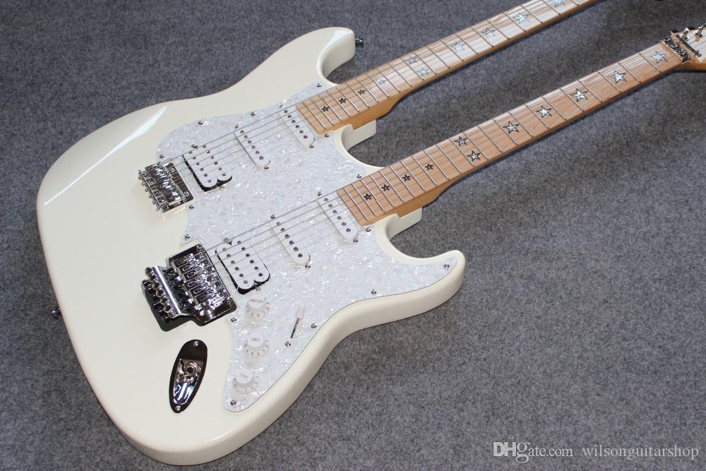 New Custom standard. chitarra elettrica ST. 12 6 corde doppio manico gitaar.support bianco personalizzazione guitarra