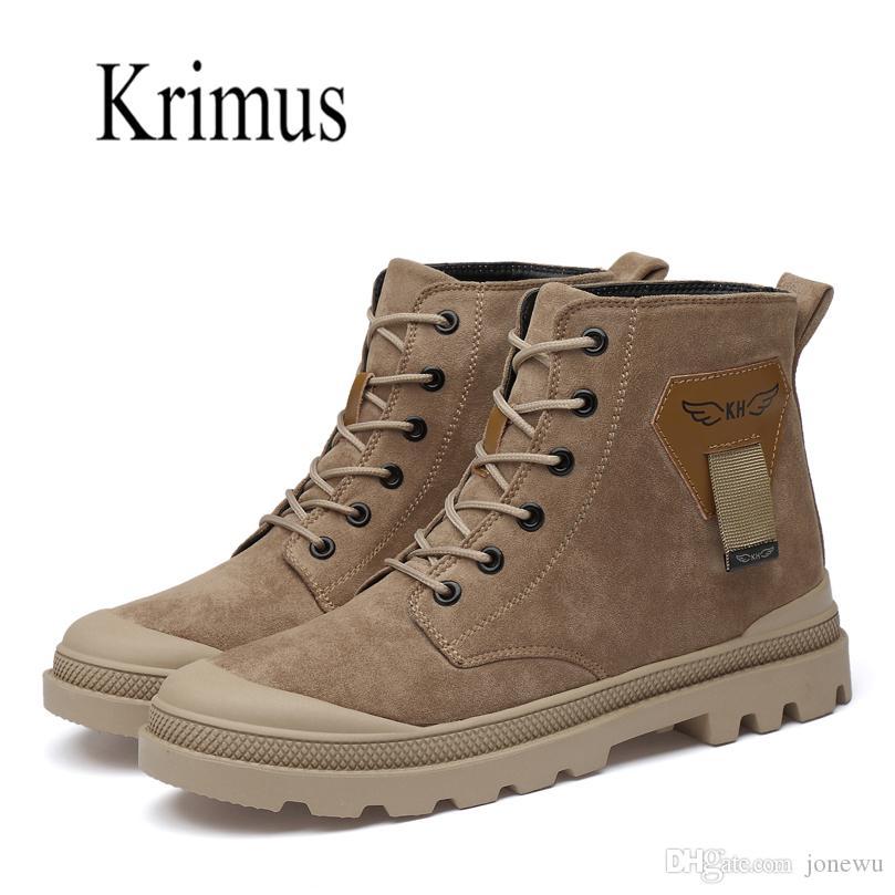 2019 de alta calidad botines táctico botas del ejército escudo ejército de encaje de encaje gran desierto de los hombres zapatos casuales de la moda antideslizantes