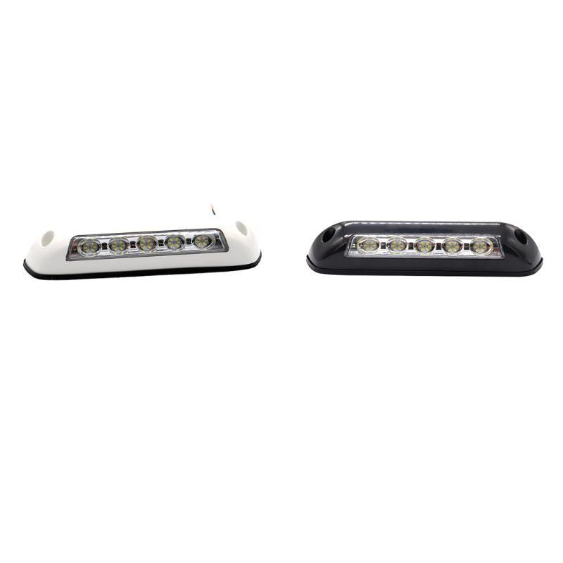 RVs Sunshade Light 5 LED Spotlight 6000K White Light 12V 2.6W Rubber Base Car Lamp Auto Parts