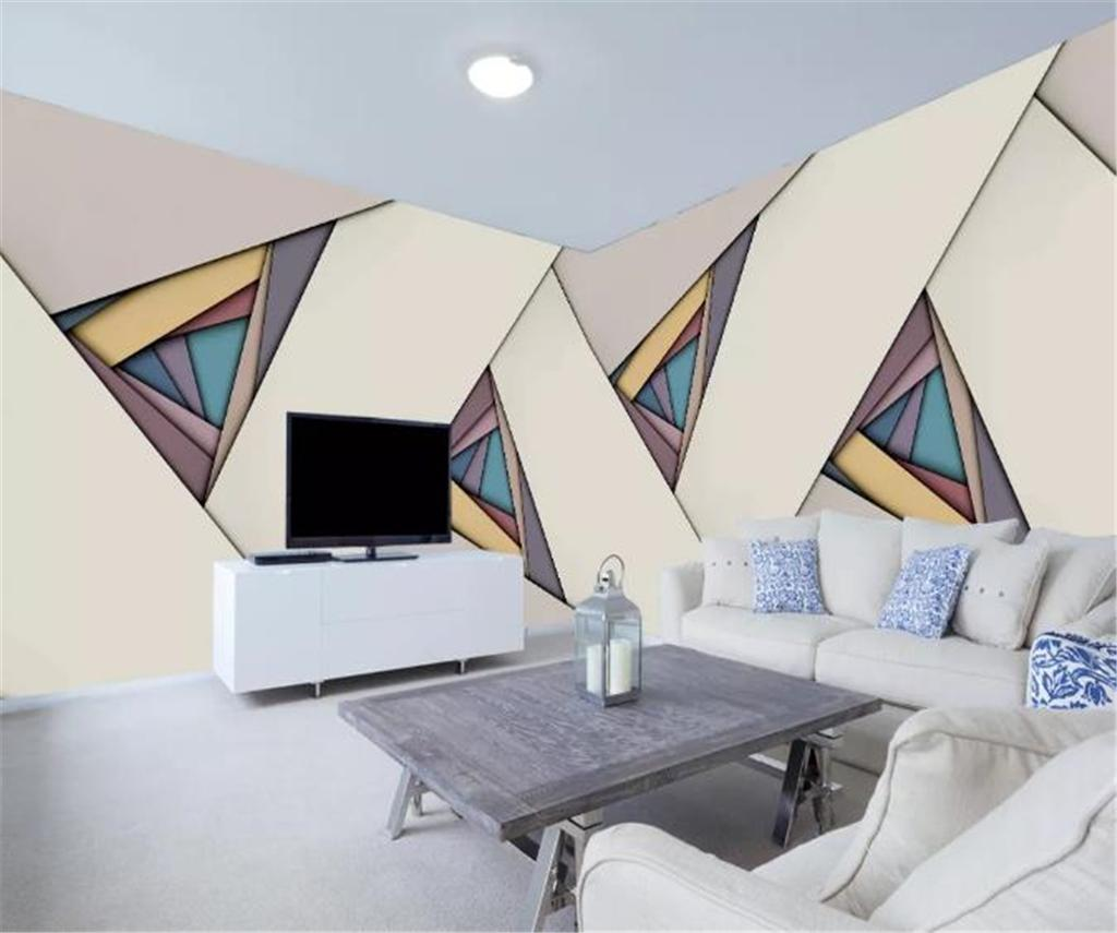 Modern Abstract Geometric Triangle Decorative Background