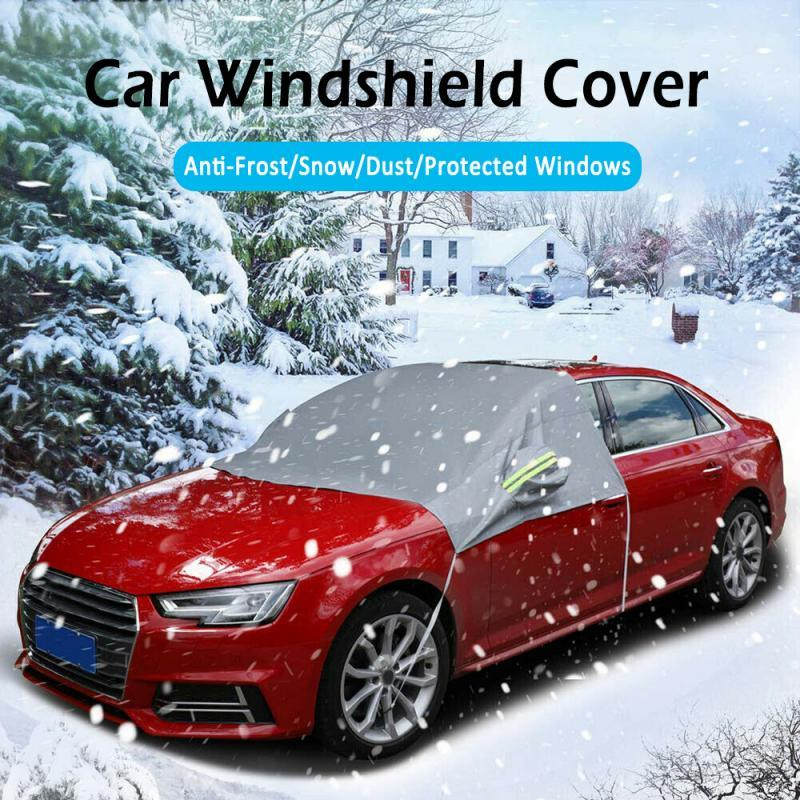 Car Windscreen Mirror Shield Cover Frost Ice Snow Uv Sun Dust Screen ProtectorVQ