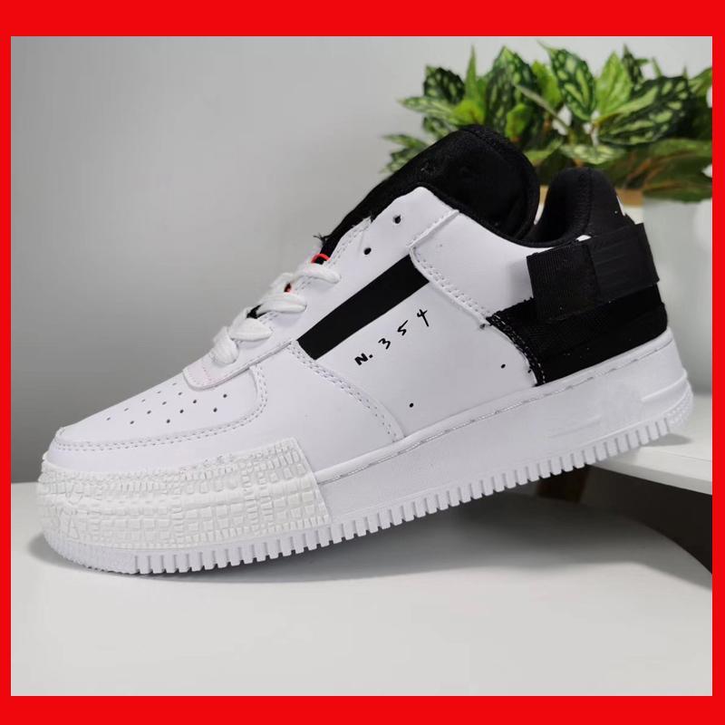 un monopatín diseñador Af1 zapatillas de deporte baja blanca negro azul amarillo Comprar nuevo tipo AF1 hombres de las mujeres forman los zapatos de 1s para barato