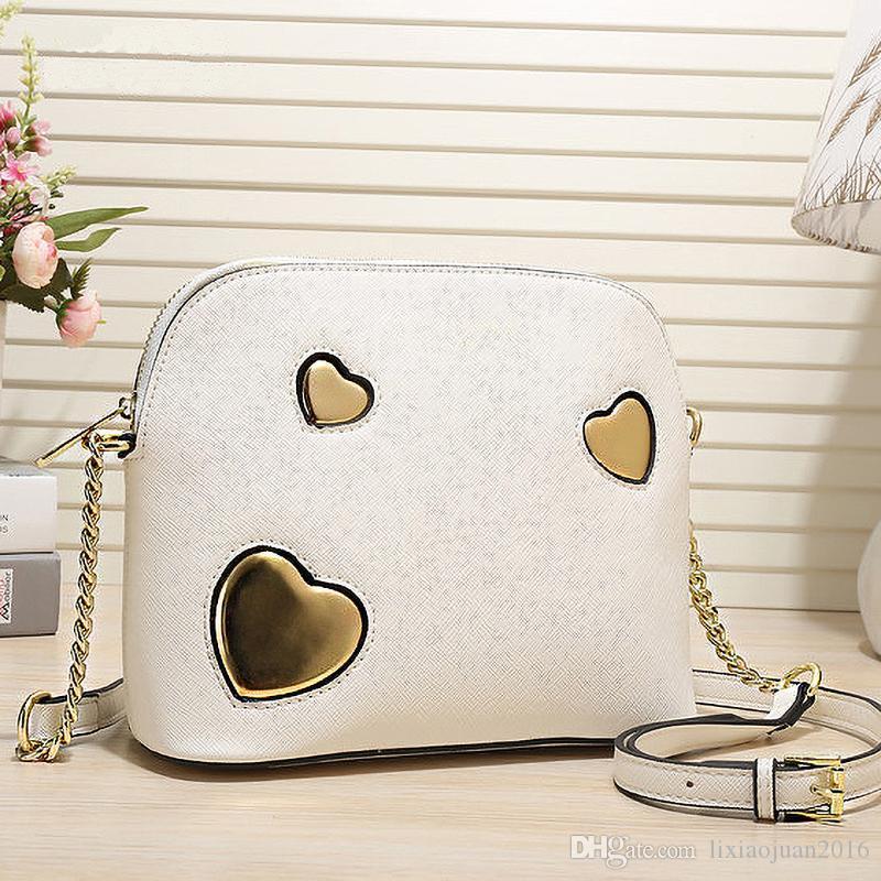 trasporto libero 2019 borse fashion designer borsa stile guscio 8 colore lettera americani in pelle PU europeo e decorativi catena tracolla