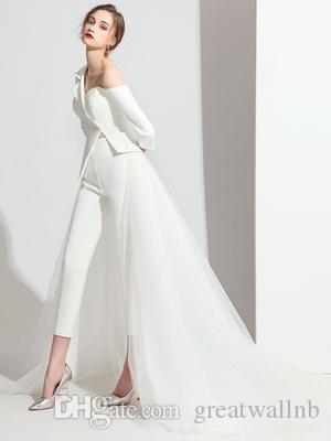 100% настоящий женский модный костюм белый / черный тонкий пиджак с брюками / съемная вуаль для вечеринок королева викторианец