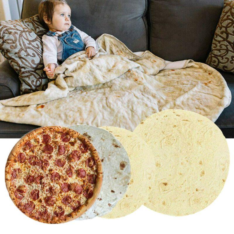 Смешная Тортилла Одеяло Мягкой фланель Burrito Ковровых Throw Одеяло Креативный подарок Xmas для дома и на улицу