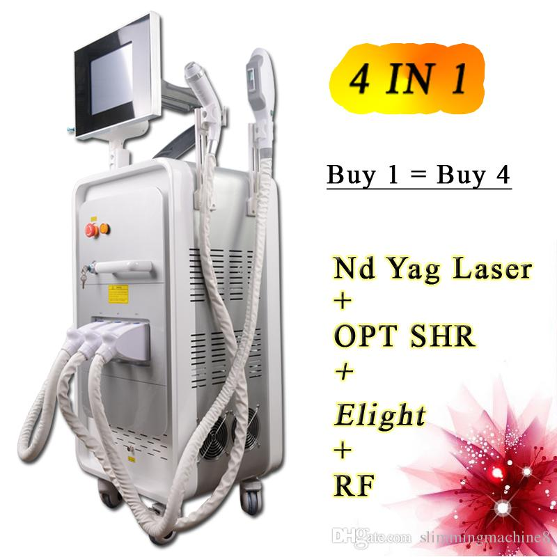 OPT SHR hair removal machine RF skin tigthening Nd yag laser tattoo removal equipment CE approval