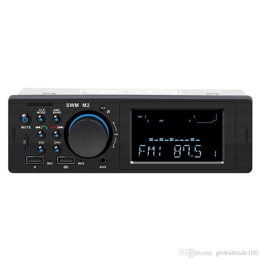 블루투스 차량용 스테레오 라디오 MP3 음악 플레이어 12V 인 - 대시 1 Din Autoradio FM AUX USB TF 입력 자동 오디오 멀티미디어 플레이어 SWM M2