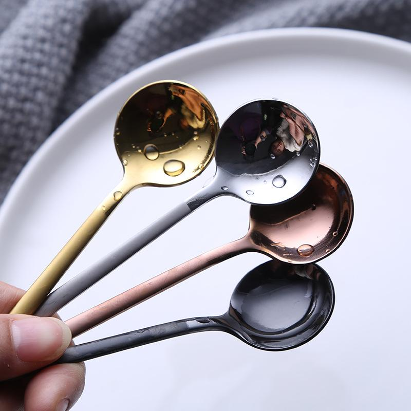 1 pc / Insieme di caffè della paletta 304 in acciaio inox cucchiaio di caffè con manico lungo dessert Tea Spoon Set da cucina Accessori
