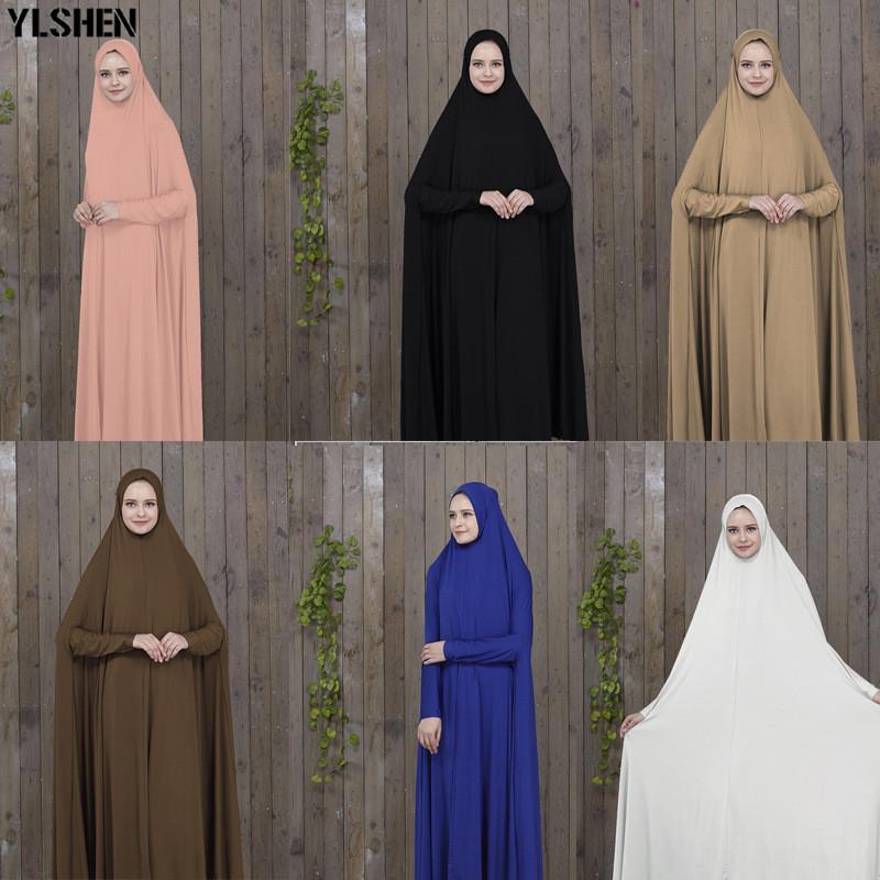 Ramadan Abaya Dubai Muslim Dress Prayer Clothing Black Kaftan With Hijab Robes Arabian Women Islamic ClothingTurkey Islam Elbise