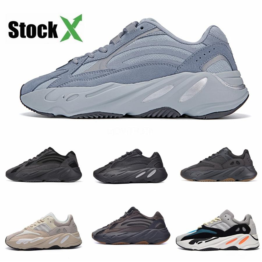 With Box New 700 Wave Runner Mauve Inertia Mens Shoes Kanye West Designer Shoes Men Women 700 V2 Static Sports Seankers Size 36-4585Bc#DSK915